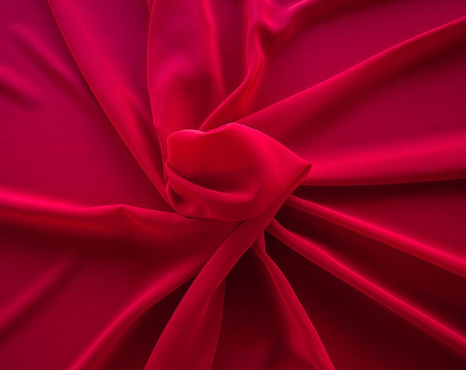 301106-crepe de Chine natural silk 100%, wide 135/140 cm, made in Italy, dry-washed, weight 88 gr