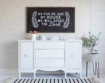 As For Me And My House | wood sign