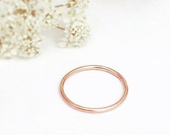 Rose Gold Ring - 9ct Rose Gold Ring - Gold Ring -Skinny Gold Ring - 9ct Rose Gold Skinny Ring - Rose Gold Thin Stacker Ring - Gifts for Her