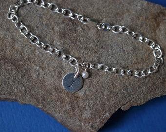 Initial Birthstone Bracelet