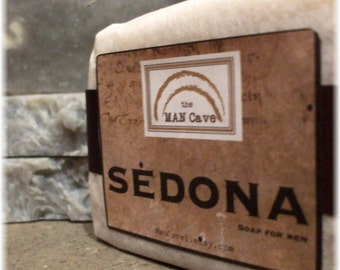 SOAP for Men - SEDONA - Made from Scratch Soap with Organic Oils and Shea Butter by Man Cave Soapworks