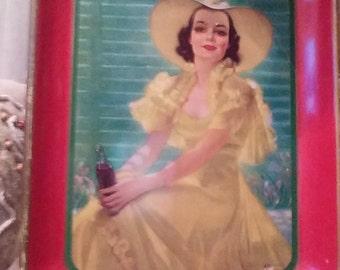 Coca-Cola tray 1938