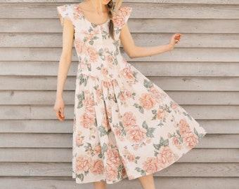 Twirly Vintage Floral Dress