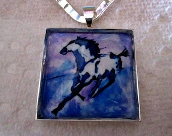 Running Horse Pendant or Scarf Slide, scarf jewelry, scarf ring