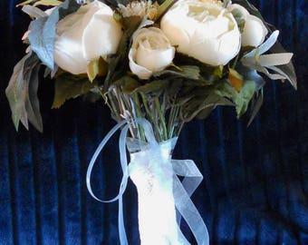Bridal Bouquet, Bride's bouquet, Wedding Bouquet, bouquet, white roses, Bohemian