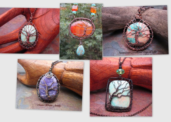Tree of life tutorial instant download diy wire jewelry tree of life tutorial instant download diy wire jewelry pattern wire wrap tree of life pendant wire wrapping jewelry tutorial mozeypictures Image collections