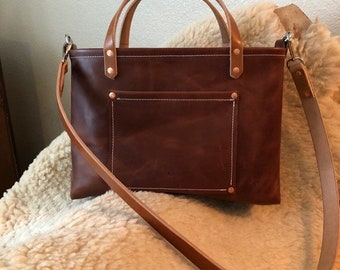 Brown Distressed Leather Purse