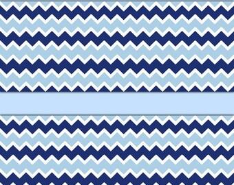 NAVY BLUE CHEVRON Wallpaper Border Wall Decals Baby Boy Nursery Childrens Room Kids Bedroom Playroom Zigzag Pattern Stickers Home Art Decor