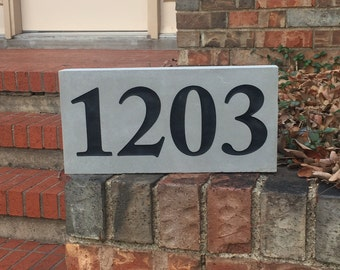 Address Stone House Number light gray 6 x 10