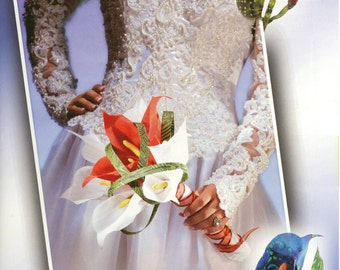Calla Lilies Dimensional Fabric Art Pattern - by Terial Arts (TA412)