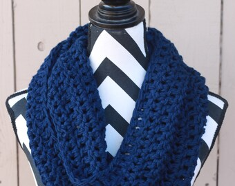 Ready to Ship Midnight Blue Infinity Scarf