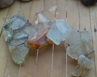 Set of 6 safety wired seaglass pieces from the Irish See