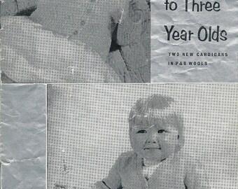 P&B 231 Vintage Original Knitting Patterns for Babies Cardigans Two Ways