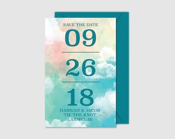 Printable Save the Dates - In the Sky