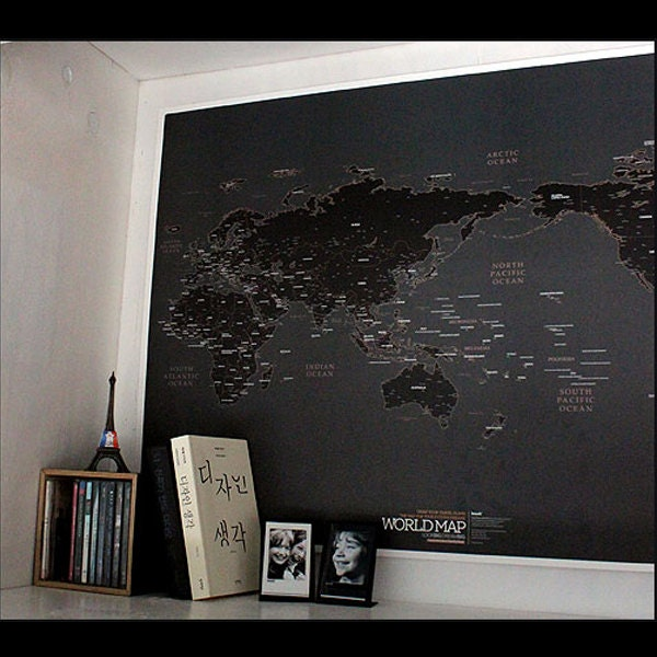 Black world map poster zoom gumiabroncs