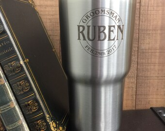 Personalized Tumbler, 30oz Vacuum Sealed Double Walled Tumbler, Engraved Tumbler, 18/8 Stainless Steel Cup, Custom 30oz Cup, Engraved Mug