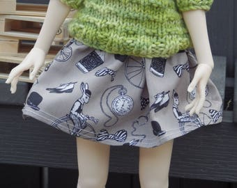 BJD Msd brown skirt