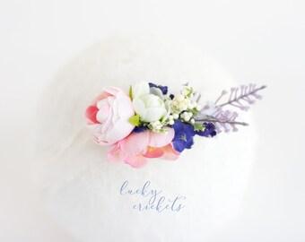 Spring Tieback, Spring Headband, Flower Tieback, Bright Tieback, Floral Tieback, Newborn Tieback, Baby Tieback, Baby Headband