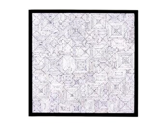 Wall art Black/White recycled paper