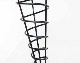Bench or Coffee Table Legs, Modern Spiral Cone 16-inch Height, Stronger Than Hairpin, Set Of Four, Angled