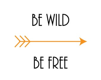 Be Wild Be Free print, nursery print