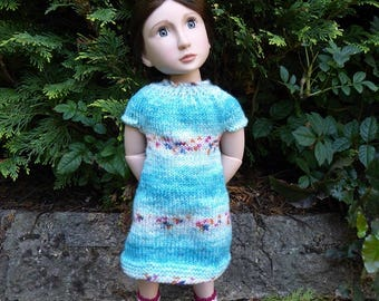 Lovely handknitted dress for A Girl for All Time Dolls,