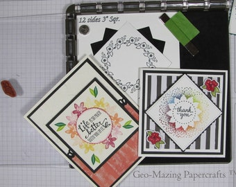12 Sided Wreath Template for Stamp Positioning Tool for 3 inch square