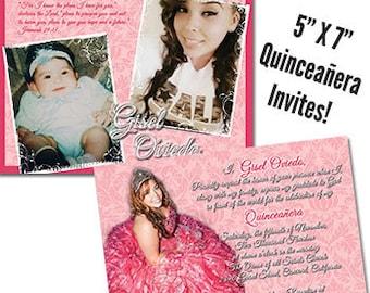 Sweet 15 Invitation Mis Quince Anos Invite Quinceanera Invitation