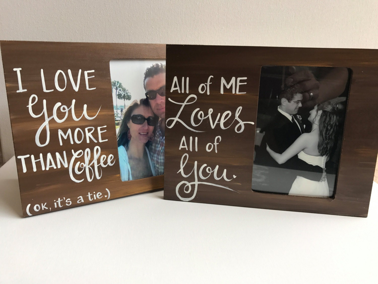 Love Picture Frame. I love you more than Coffee Picture Frame ...