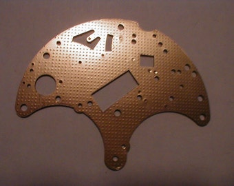 4 solid brass clock plates with pins