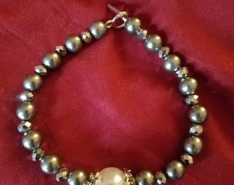 Pearl Bracelet with Matching Necklace