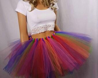 Adult Or Child Rainbow Bright Tutu Skirt