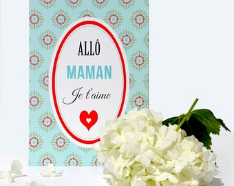 Mother's Day card: Hello Mama ICH Liebe Dich - DC
