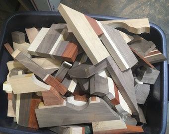 Bulk scrap pieces of wood for crafts, art projects, woodworking. All random shapes and sizes.