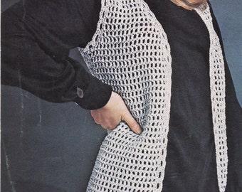 Ladies Crochet Pattern,Crochet Vest Pattern,Instant Download,VINTAGE CROCHET PDF,Womens Crochet Waistcoat,Crochet Vest,Crochet Pattern,1960s