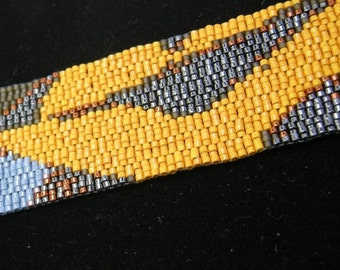 In Her Shoes Hand Woven Beaded Cuff
