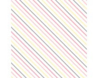 Fabric by the Yard - One Sheep Two - Diagonal Stripe --  by Wilmington