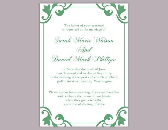 Wedding invitation template download printable wedding stopboris Choice Image
