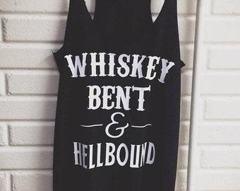 Whiskey Bent & Hell Bound Racerback Tank