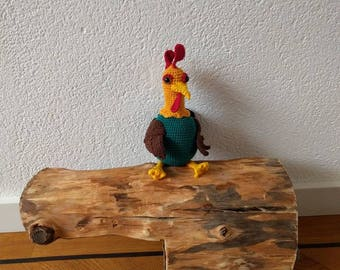 Crochet Rooster, grate crochet, cuddle rooster, grate toy