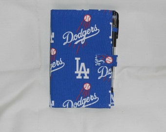 Los Angeles Dodgers Fabric Cover for 6x4 Memo Notebook
