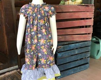 Matilda Jane Style Romper/Capri length Romper/Autumn Romper/Botique Romper/One Piece Romper