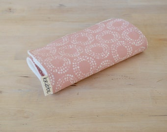 Organic Burp Cloth - Pink Circles