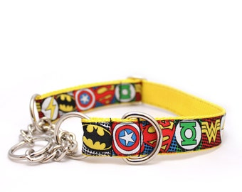 """1"""" Sheldon Cooper buckle or chain martingale dog collar"""
