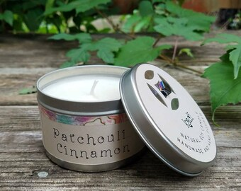 Patchouli Cinnamon natural soy candle