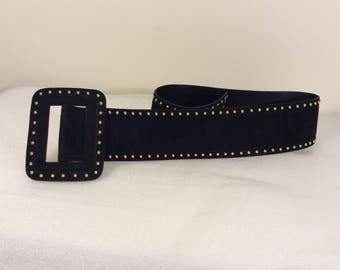 Vintage Escada studded suede belt