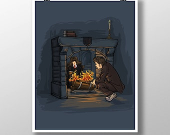 The Witch In the Fireplace Medium Print (Item 03-305-BB)