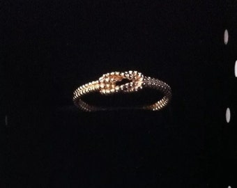 Goldfilled rope tie ring