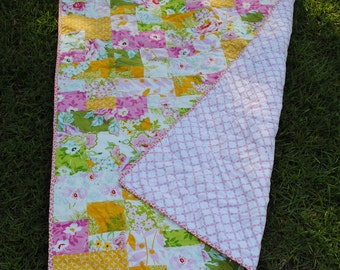 Shabby Chic Baby/Toddler/ Lap Quilt