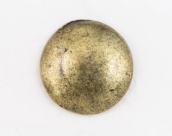 19.5mm Antique Brass Pewter Dome Button #BUT062B
